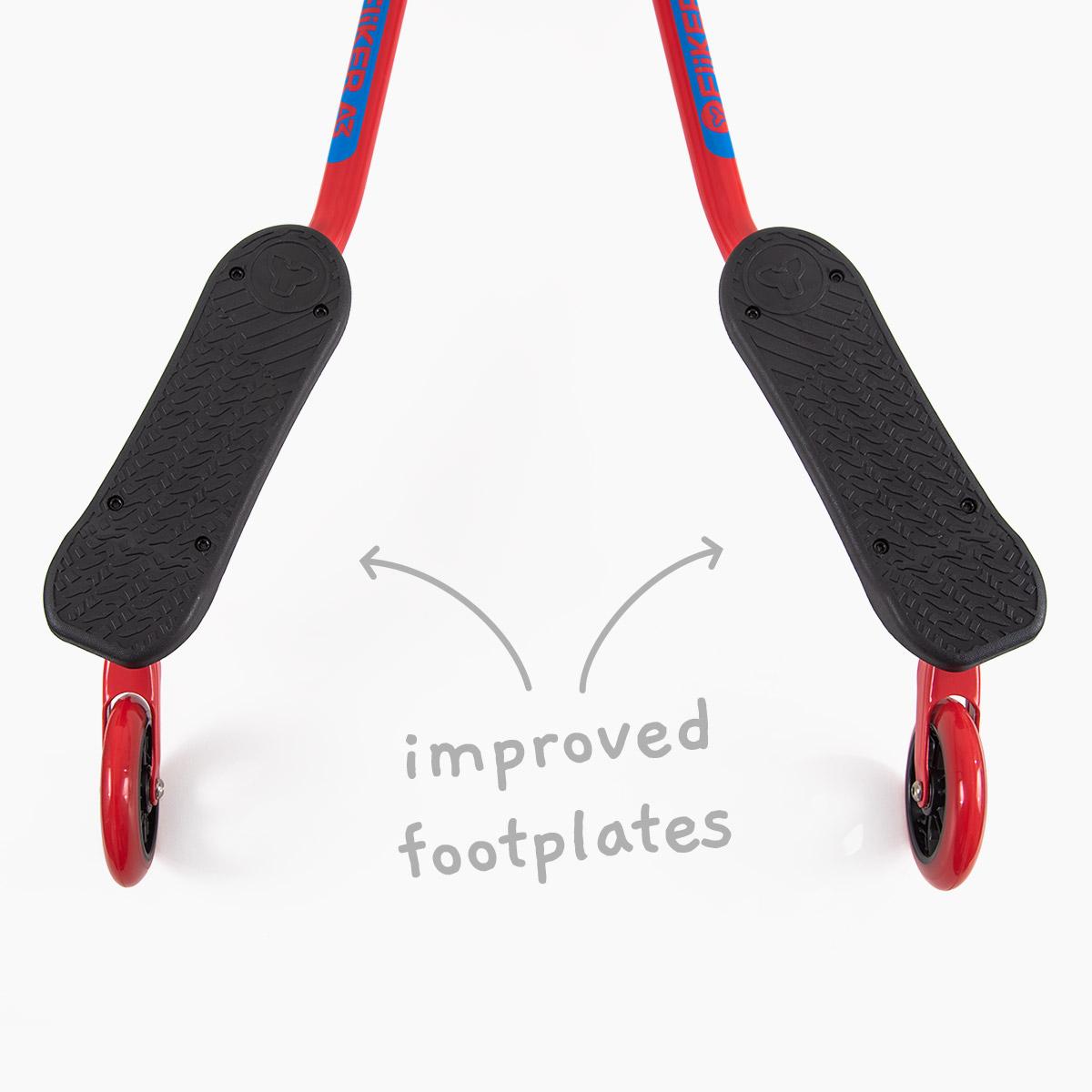 Improved footplates for maximum control